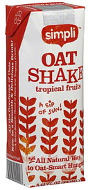 Simpli Tropical Fruits 8.45 Oz Oat Shake - 10 pkg
