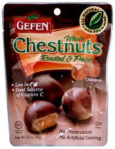 Gefen Whole Roasted & Peeled 5.2 Oz Chestnuts - 12 pkg