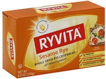 Ryvita Crispbread Sesame Rye 8.8 Oz