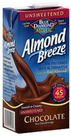 Blue Diamond Almond Milk Unsweetened Chocolate 32 Fl Oz