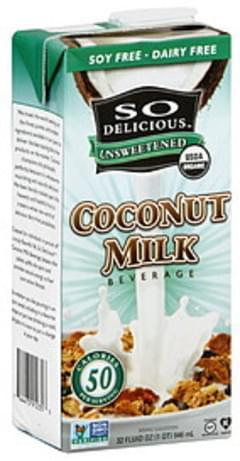So Delicious Coconut Milk Unsweetened 32 Oz