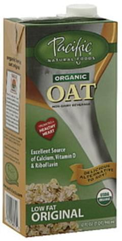 Pacific Natural Foods Non-Dairy Beverage Organic Oat Low Fat Original