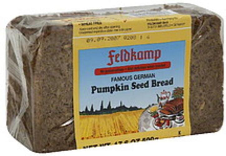 Feldkamp Pumpkin Seed 16.75 Oz Bread - 12 pkg