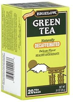Bigelow Tea Bags Green Naturally Decaffeinated 20 Ct