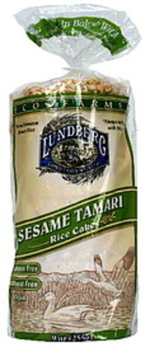 Lundberg Family Farms Sesame 9 Oz Rice Cakes - 12 pkg