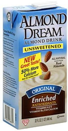 Almond Dream Almond Drink Unsweetened 32 Oz