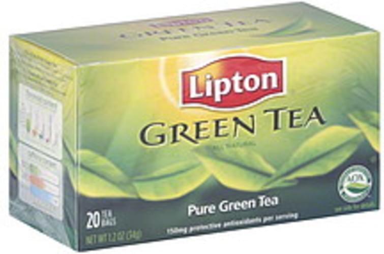 Lipton Pure Green 20 Ct Tea - 6 pkg