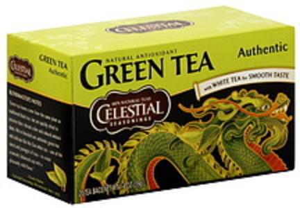 Celestial Seasonings Green Tea Authentic Green Tea 20 Ct 1.4 Oz