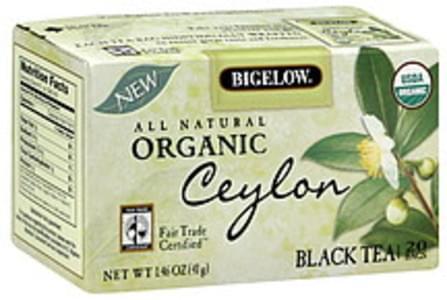 Bigelow Tea Bags Ceylon Black Organic 20 Ct