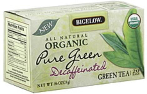 Bigelow Tea Bags Pure Green Decaf 20 Ct