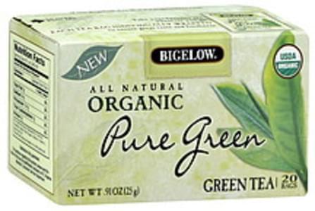 Bigelow Tea Bags Pure Green Organic 20 Ct
