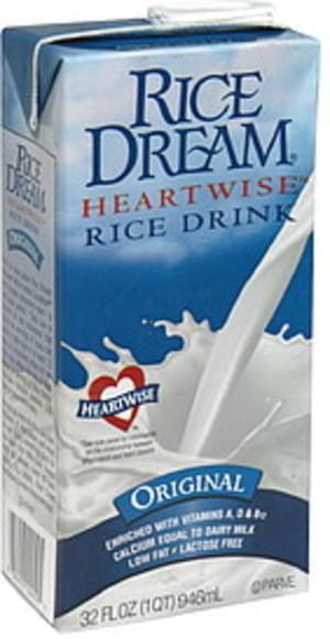 Rice Dream Heart Wise 32 Oz Rice Drink - 12 pkg