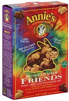 Annie's Homegrown Bunny Graham Crackers Honey, Chocolate & Chocolate Chip 7 Oz