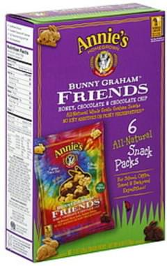 Annie's Homegrown Graham Crackers Bunny Graham Friends Snack Packs 1 Oz