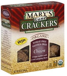 Mary's Gone Crackers Crackers Onion 6.5 Oz