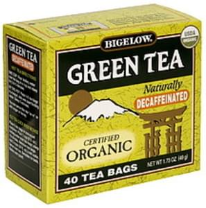 Bigelow Tea Bags Organic Green Decaffeinated 40 Ct