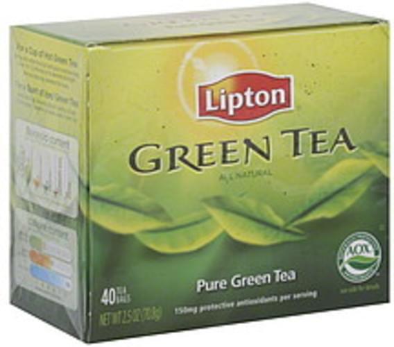 Lipton Pure Green 40 Ct Tea - 6 pkg