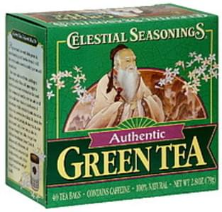 Celestial Seasonings Green Tea Authentic Green Tea 40 Ct 1.4 Oz
