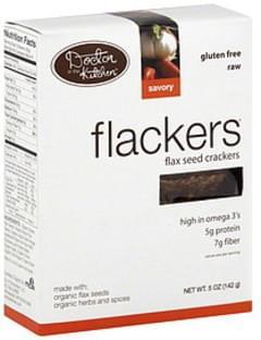 Flackers Cracker Flax Seed 5 Oz