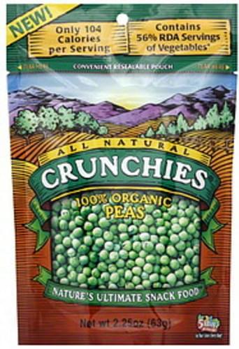 Crunchies 100% Organic Peas - 6 pkg
