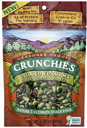 Crunchies Grilled Soybeans & Wild Rice 2.25 Oz Seasoned Veggies - 6 pkg