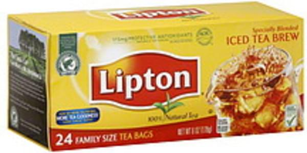 Lipton Tea Bags Iced Tea Blend Family Size 24 Ct