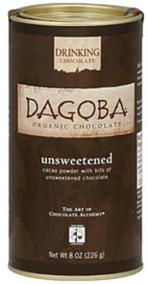 Dagoba Unsweetened Cacao Powder 8 Oz Chocolate Powder - 9 pkg