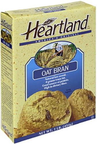 Heartland Oat Bran All Natural 16 Oz Hot Cereal - 6 pkg