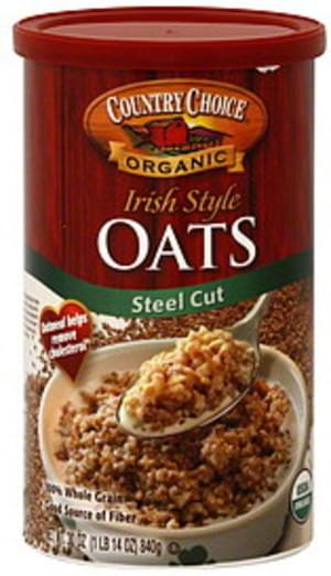 Country Choice Organic Irish Style Steel Cut 30 Oz Oats - 6 pkg