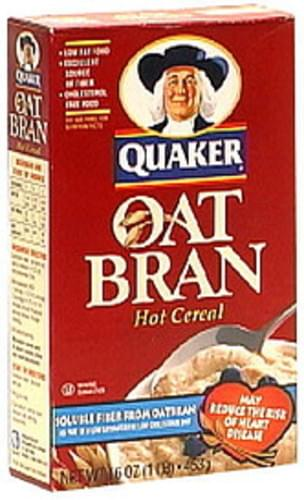 Quaker Oat Bran 16 Oz Hot Cereal - 12 pkg