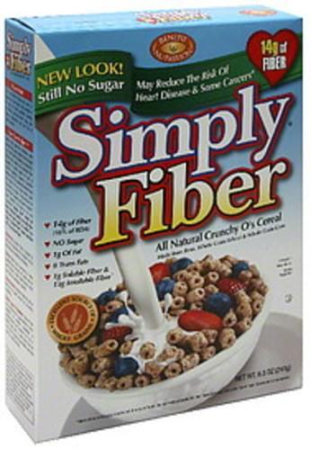 Simply Fiber All Natural Crunchy O's 8.5 Oz Cereal - 6 pkg