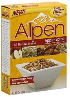 Alpen Muesli All Natural Apple Spice