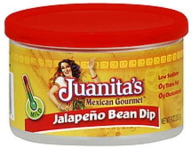Juanita's Foods Dip Mild Jalapeno Bean Dip Pk of 12