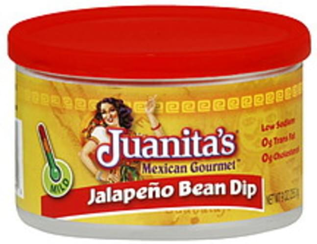 Juanita's Foods Mild Jalapeno Bean Dip Pk of 12 Dip - 9 oz