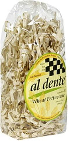 Al Dente Noodles Whole Wheat Fettuccine 12 Oz