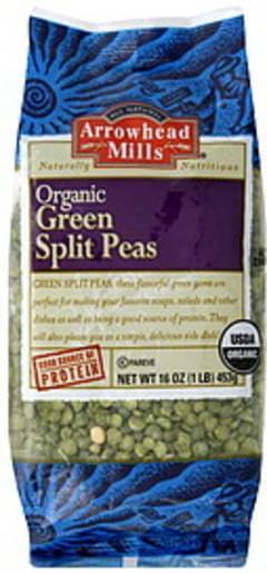 Arrowhead Mills Green Split Peas Organic 16 Oz