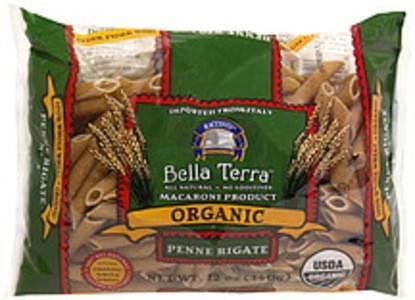 Bella Terra Organic Pasta Penne Rigate 12 Oz