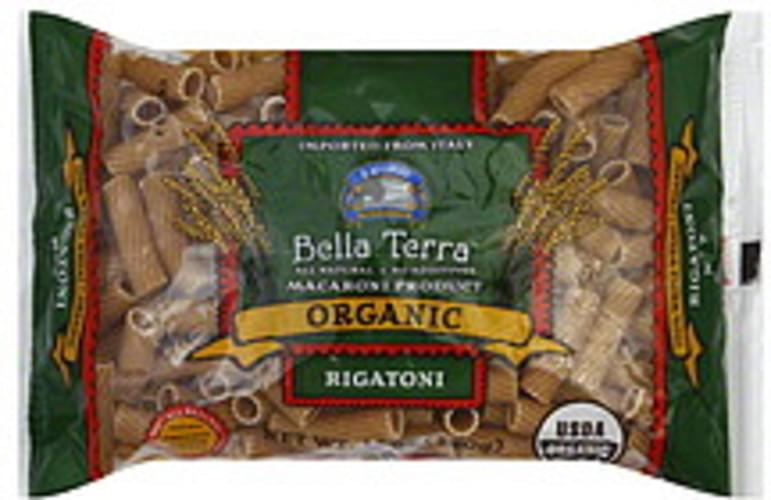 Bella Terra Organic Rigatoni 12 Oz Pasta - 12 pkg