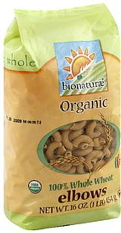 bionaturae Pasta Whole Wheat Elbows 1 Lb