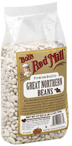 Bob's Red Mill Premium Quality 27 Oz Great Northern Beans - 4 pkg