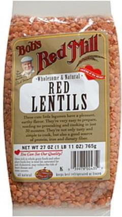 Bob's Red Mill Red Lentils Premium Quality 27 Oz