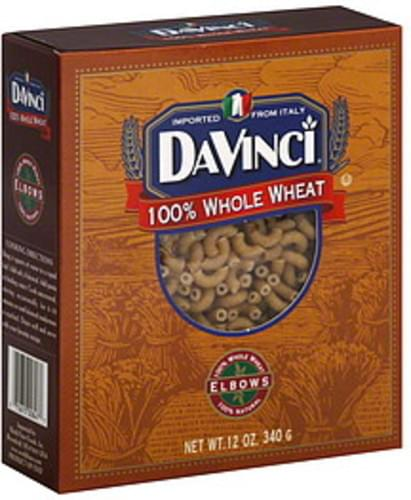 Davinci Whole Wheat Elbows 12 Oz Pasta - 12 pkg