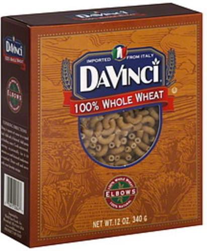 Davinci Whole Wheat Elbows 12 Oz Pasta - 12 pkg