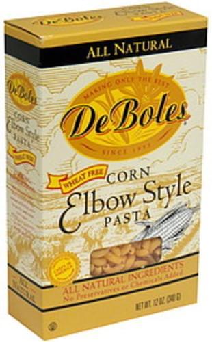 DeBoles Pasta Corn Elbow Style 12 Oz - 12 pkg