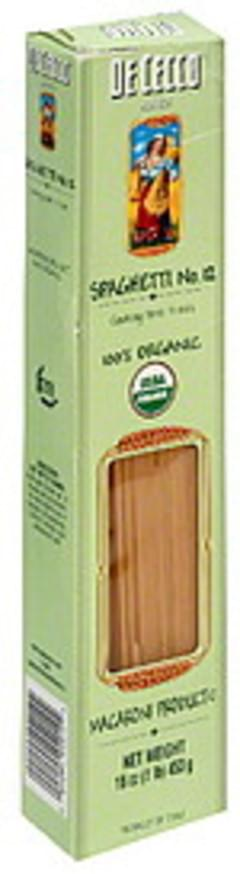 De Cecco Pasta Organic Spaghetti 16 Oz