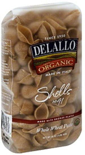 Delallo Shells 16 Oz Pasta - 16 pkg
