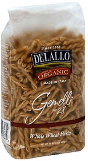 Delallo Whole Wheat Gemelli 16 Oz Pasta - 16 pkg