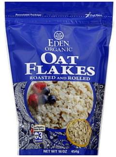 Eden Oat Flakes Roasted and Rolled 16 Oz