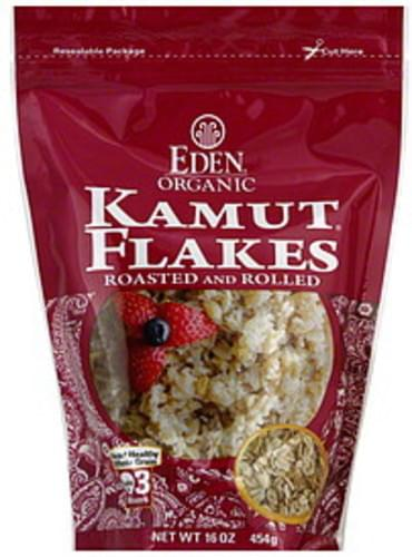 Eden Roasted and Rolled 16 Oz Kamut Flakes - 6 pkg