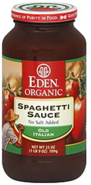 Eden Organic Old Italian Spaghetti 25 Oz Sauce - 25 oz